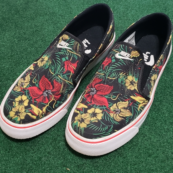 Nike Shoes | Nike Floral Slip Ons